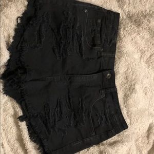 black american eagle jean shorts